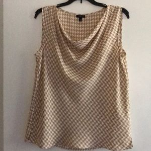 Talbots Cowl Neck Houndstooth Top Size 8